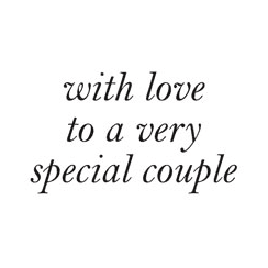 Woodware Just Words - With Love To A Special Couple