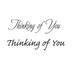 WOODWARE » THINKING OF YOU - CLEAR MAGIC JUST WORDS TIDDLER