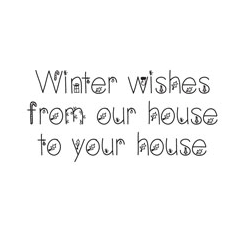 WOODWARE » WNTER WISHES - JUST WORDS CLEAR MAGIC TIDDLER