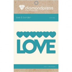 Diamond Press Word Dies - Love & Hearts