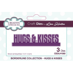 Creative Expressions Wording Edgers Hugs & Kisses
