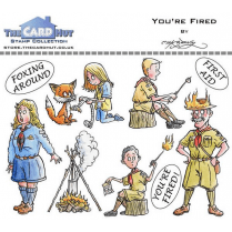 The Card Hut YOURE FIRED - STAMP SET